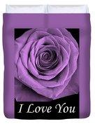 Rose 5 I Love You Duvet Cover