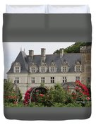 Rose And Cabbage Garden Chateau Villandry Duvet Cover