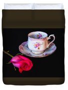 Rose And Tea Cup Duvet Cover
