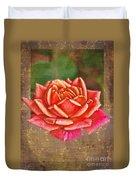 Rose Blank Greeting Card Duvet Cover