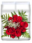 Rose Bouquet From Above Duvet Cover