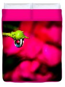 Rose Bud After Rain Duvet Cover