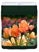 Rose Bunch Duvet Cover by Rona Black