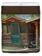 Rose Cabin At The Holzwarth Historic Site Duvet Cover