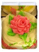 Rose Cakes Duvet Cover