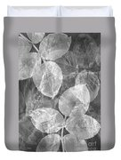 Rose Clippings Mural Wall 2 - Black And White Duvet Cover