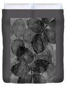 Rose Clippings Mural Wall - Black And White Duvet Cover