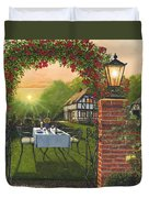 Rose Cottage - Dinner For Two Duvet Cover