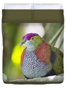 Rose-crowned Fruit Dove Duvet Cover