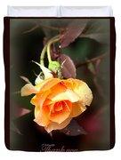 Rose - Flower - Card Duvet Cover