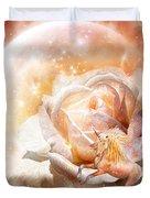 Rose For A Unicorn Duvet Cover