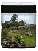 Rose Garden At The Huntington Library Duvet Cover