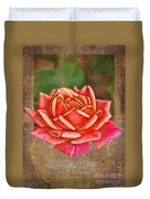 Rose Greeting Card Birthday Duvet Cover