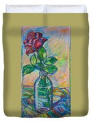 Rose In A Bottle Duvet Cover