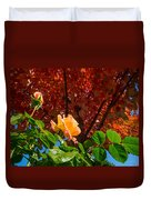 Rose In Autumn Duvet Cover