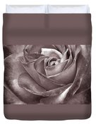 Rose In Black And White Duvet Cover