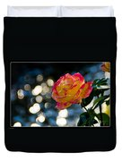Rose In Dappled Afternoon Light Duvet Cover