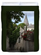 Rose Lane In Loches Duvet Cover