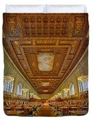 Rose Main Reading Room At The Nypl Duvet Cover
