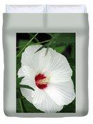 Rose Mallow - Honeymoon White With Eye 05 Duvet Cover