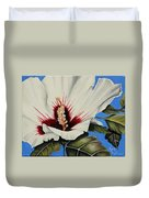 Rose Of Sharon Duvet Cover by Karen Beasley