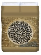 Rose Of The Cathedral Of San Giusto Duvet Cover