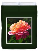 Rose Petals Catching Sunlight Duvet Cover
