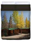 Rose Twin 1 And Twin 2 Cabins At The Holzwarth Historic Site Duvet Cover