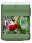 Rose Water Drops Duvet Cover