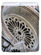 Rose Window Duomo Florence Duvet Cover