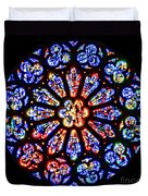Rose Window Of Grace Cathedral By Diana Sainz Duvet Cover