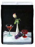 Rose Wine And Fruit Duvet Cover