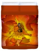 Rose With Bee Duvet Cover