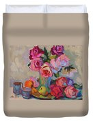 Roses And Apples Duvet Cover