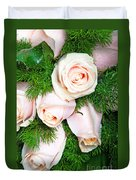Roses Bouquet Duvet Cover