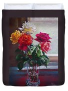 Roses By The Window Duvet Cover