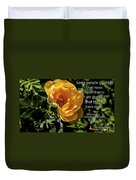 Roses Have Thorns Duvet Cover