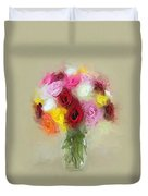 Roses In A Vase 1 Duvet Cover