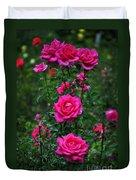 Roses In The Garden Duvet Cover
