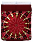 Roses Kaleidoscope Under Glass 11 Duvet Cover