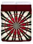 Roses Kaleidoscope Under Glass 17 Duvet Cover