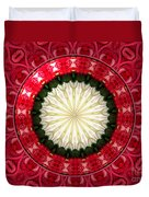 Roses Kaleidoscope Under Glass 19 Duvet Cover