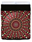 Roses Kaleidoscope Under Glass 21 Duvet Cover