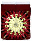 Roses Kaleidoscope Under Glass 23 Duvet Cover