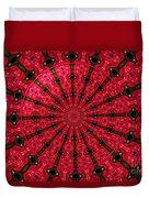 Roses Kaleidoscope Under Glass 24 Duvet Cover