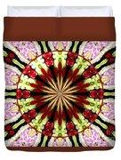 Roses Kaleidoscope Under Glass 25 Duvet Cover