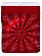 Roses Kaleidoscope Under Glass 26 Duvet Cover