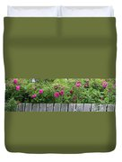 Roses On A Fence Duvet Cover