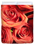 Roses On Your Wall Duvet Cover