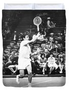 Rosewall Playing Tennis Duvet Cover